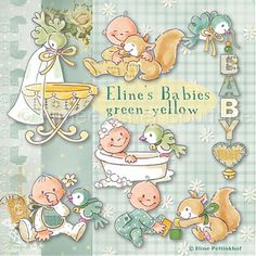 Eline's babies green-yellow :: Clipart and Graphics :: Aimee Asher Boutique