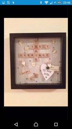 Scrabble frame for wedding