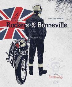 LIVRE - A motorcycle story of rockers and Bonneville de Jean Éric Triumph Cafe Racer, Triumph Motorcycles, Moto Guzzi, Street Glide, Street Tracker, Triumph Bonneville, Honda Cb, Ford Gt, Bobber