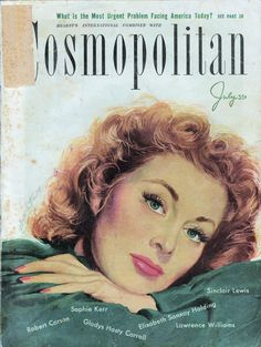 Greer Garson. Cosmopolitan Magazine, July 1947 (Coby Whitmore)