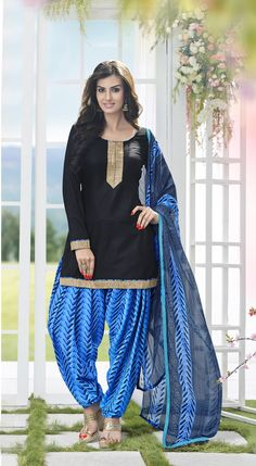 Buy Amazing Black Patiala Salwar Kameez online at  https://www.a1designerwear.com/amazing-black-patiala-salwar-kameez  Price: $22.38 USD