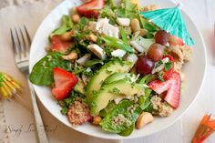 Tropical Quinoa Salad with agave lime dressing | Simply Love Food