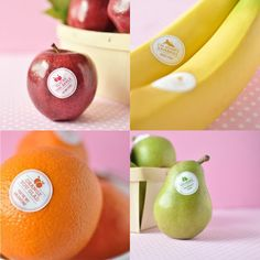 Turn your fruit into Valentine's with these cute stickers.