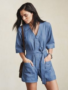 We bet you didn't know you needed a shorty jumpsuit so badly until you saw this. The Jasper Jumpsuit is a short sleeve, shorts jumper with a V neckline, pockets and a snap/zip front. https://www.thereformation.com/products/jasper-jumpsuit-americana?utm_source=pinterest&utm_medium=organic&utm_campaign=PinterestOwnedPins
