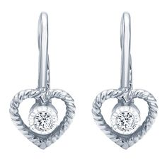 7d94dcda2 Braided Heart Petite Diamond Earrings from Steven Singer Jewelers Diamond  Heart, Studs, Diamond Earrings