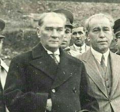 Gazi Mustafa Kemal and Fethi Bey (Okyar) in 1930