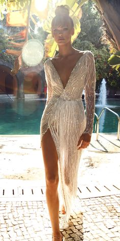 Unique And Hot Sexy Wedding Dresses ❤ See more: http://www.weddingforward.com/sexy-wedding-dresses-ideas/ #weddingforward #bride #bridal #wedding