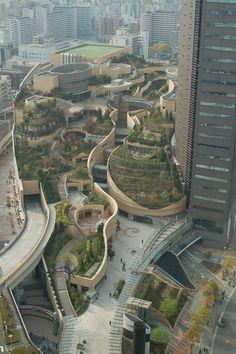 Garden in Osaka Japan