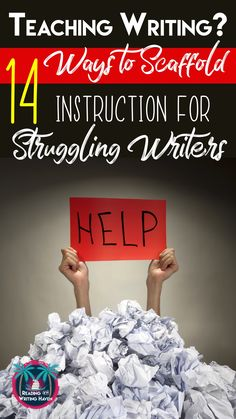 14 Ways to Support Struggling Writers: Build Confidence and Increase Success Teaching writing to struggling students? Here are 14 easy-to-implement best-practices for middle and high school teachers. 5th Grade Writing, Middle School Writing, Writing Classes, Middle School English, Writing Lessons, Writing Workshop, Teaching Writing, Writing Activities, Writing Skills
