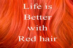 """""""Life is Better with Red Hair"""" #redhairwigs   #redwigscanada   #wigscanada"""