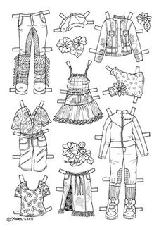 Karen`s Paper Dolls: Josefine 1-4 Paper Doll to Colour. Josefine 1-4…