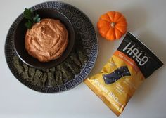 Whip Up a Healthy Halloween Chips & Dip #Recipe - this #Halloween, try Ocean's Halo Seaweed Chips and an easy to make, healthy dip sure to please everyone on your trick and treat list!