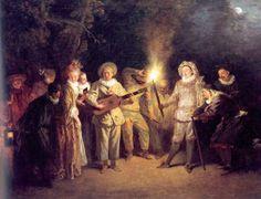 Jean-Antoine Watteau's Love in the Italian Theatre