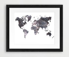 World Map Rust Texture Printable File World Map by synplus on Etsy