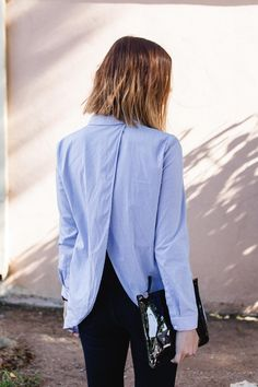 COS button up shirt with back detail