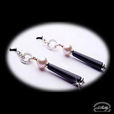 Orecchini onice e perle con diamanti in oro rosa e bianco 18kt - The Art of changing while remaining yourself
