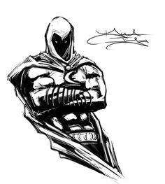 Moon Knight Bust by DaveIgo on DeviantArt Batman Rip, Marvel Moon Knight, Graphic Novel Art, Marvel Characters, Fictional Characters, Comic Games, Tobias, Cool Costumes, Comic Books