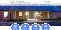 #sesamewebdesign #psds #dental #responsive #topnav #top-nav #fullwidth #full-width #sans #circles #sticky #pattern #blue #yellow #