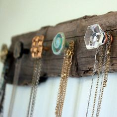 DIY Wooden plank with knobs