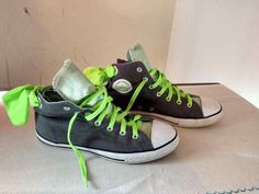 Converse All Star Chuck Taylor HighTop Womens 5 Grey Green High Top  #Converse #Athletic