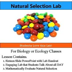 Natural Selection Lab - Use Math Evaluate Natural Selection & Evolution Interested in an entire Evolution unit?  Save money and check out this lesson bundled with six more plus an assessment here: Evolution Bundle==========================================================Want a FULL YEAR of biology lessons, labs and activities?