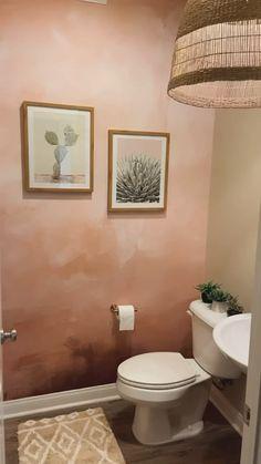 Half Bathroom Decor, Bathroom Decor Pictures, Simple Bathroom, Bathroom Ideas, Master Bathroom, Budget Bathroom, Small Bathroom Decorating, Tan Bathroom, Bathroom Accent Wall