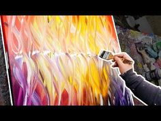 Creation of an abstract painting with warm colors | Collapse | John Beckley - YouTube