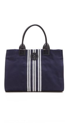 Center Stripe Ella Tote. Tory Burch handbags, find them on eBay, brought together for you in one convenient site! Time and money savings! www.womensdesignerhandbag.com