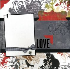 Love  12x12 Premade Scrapbook Page by SusansScrapbookShack on Etsy