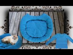 DIY ♔ Pullover Bett für Katzen und Hunde - Recycle Pet bed from a sweater - YouTube