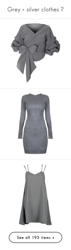 """""""Grey + silver clothes 🐰"""" by tenindvr ❤ liked on Polyvore featuring tops, blouses, victorian blouse, womens plus tops, plus size long blouses, off the shoulder tops, plus size blouses, dresses, платья and body con dresses"""