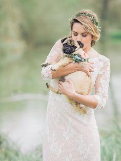 A beautiful bride and her cute puppy | wedding | | wedding photography ideas | | fury friends | | wedding photography | | Wedding pets | #wedding #weddingphotography https://www.roughluxejewelry.com/