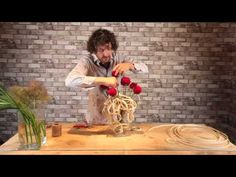 How to make structured bouquet with red roses - By Pim van den Akker - YouTube