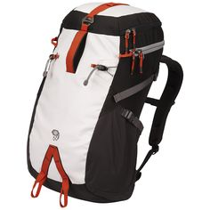 Featuring a rope strap, ice-axe loops and a top pocket big enough for most climbing helmets, the Mountain Hardwear Hueco 35 climbing pack holds everything you need for the crag. Men's Backpacks, Colorful Backpacks, 35l Backpack, Waterproof Backpack, Mountain Hardwear, Camping And Hiking, Casual Bags, Vest Jacket, Golf Bags