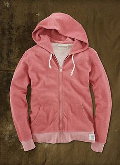 RALPH LAUREN DENIM  : Marled Full-Zip Hoodie RED | Sumally