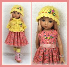 OOAK yellow and pink outfit from maggie_kate_create on ebay ends 7/30/14.