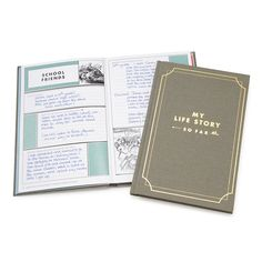 My Life Story - So Far Journal, $28