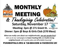 This month after our monthly member meeting, we'll be heading over to the Butler Mitchell Boy's & Girl's Club to have a Thanksgiving day celebration