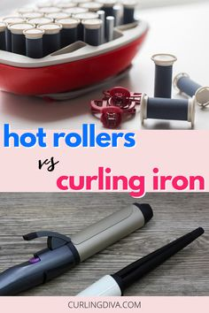 Are hot rollers better than curling irons? Which one is less damaging to your hair? While these 2 tools both curl hair, they're different. Check out this post as we compare the differences between these two different hair curlers to help you decide which one is best suited for your needs. #curls