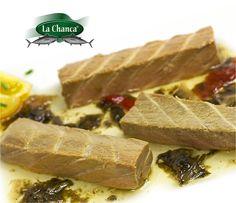 VENTRESCA EN SALSA DE ALGAS Una delicia más que nos ofrece el mar!! La #Ventresca es una de las partes mas interesantes del atún por su textura y calidad, tiene un sabor intenso, fino y delicado
