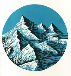(linocut by Joanna Lisowiec) More