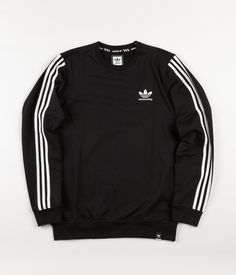 Adidas Clima 2.0 Crewneck Sweatshirt - Black Urban Outfits, Stylish Outfits, Cool Outfits, Mens Fashion Casual Wear, Streetwear Jackets, Adidas Outfit, Shirt Outfit, Long Sleeve Shirts, Sweatshirts