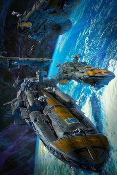 """Science Fiction World — """"The Cobra Wars"""" book cover by Dave Seeley. Spaceship Art, Spaceship Concept, Spaceship Design, Concept Ships, Concept Art, Arte Sci Fi, Sci Fi Art, Cyberpunk, Space Fantasy"""