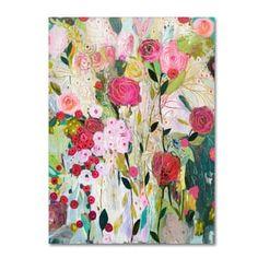 Carrie Schmitt 'Wild Rose' Canvas Art