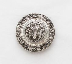 Antique Solid Silver Pill Box Superb Snuff by TheGentlemansBlade