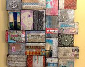 Karen Michel - Reflections of Gratitude and Offerings, Mixed Media Wood Collage.