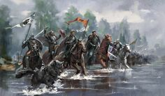 nathanielemmett:  Robb marching the armies of the North to war in the South.Artwork by Kay Huang.