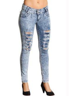 Calça Jeans Destroyed Feminino - Posthaus