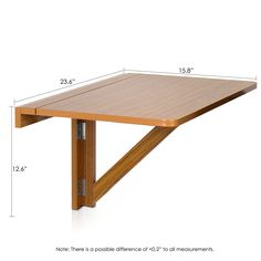 *NEW* Wall Mount Folding Table Drop Leaf Furniture Kitchen Dining Side Desk Wood in Home & Garden, Furniture, Tables Folding Furniture, Folding Desk, Space Saving Furniture, Kitchen Furniture, Diy Furniture, Furniture Design, Kitchen Dining, Murphy Furniture, Folding Tables
