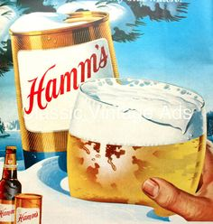 Unique Vintage Beer Ad Hamm's Beer Man Cave by ClassicVintageAds, $9.95